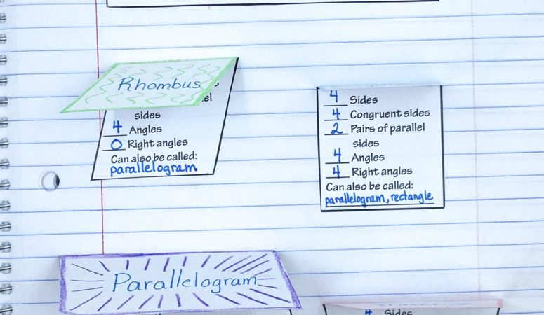 2D Shapes and 2 Dimensional Shapes Foldables – Increase Learning of Polygons