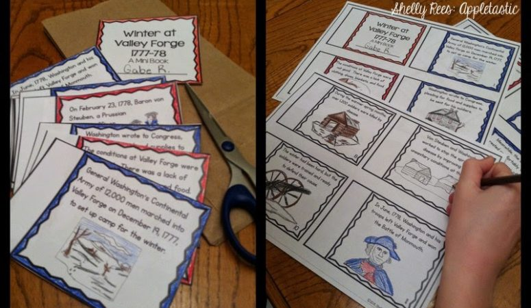 Making a Valley Forge Mini-Booklet