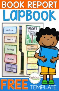 "If you've ever wondered how to make a lap book, today's your day! You'll learn how to make a lapbook with your 2nd, 3rd, 4th, 5th, or 6th grade classroom and home school students. Plus you get a FREE book report lapbook template when you sign up for our mailing list. This is a great ""how-to"" blog post that allows your students to create a complete DIY project. It's great for helping students meet their reading goals withOUT a boring book report. Grab this freebie now!"