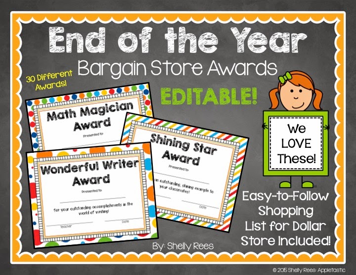 End Of The Year Award Certificates Dollar Store Style