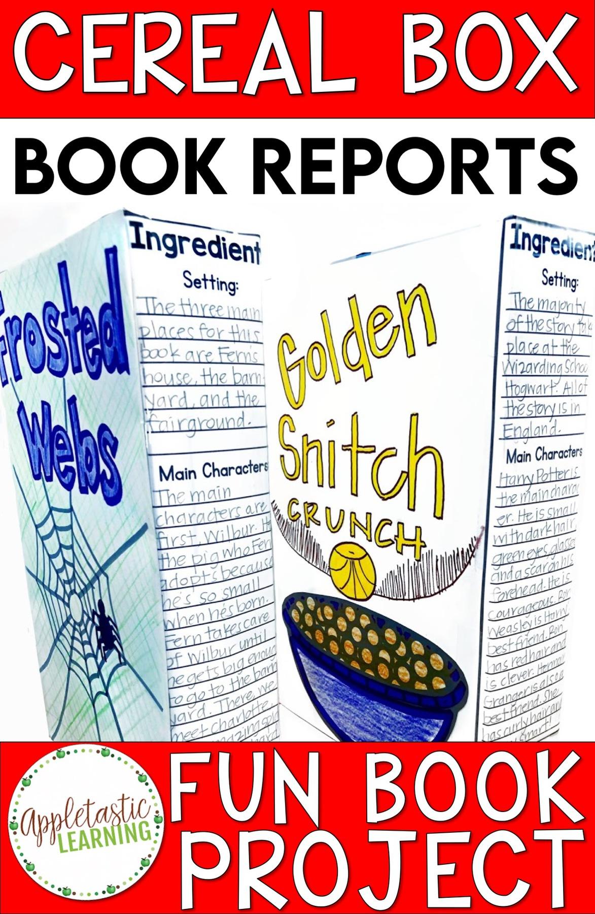 Cereal Box Book Report