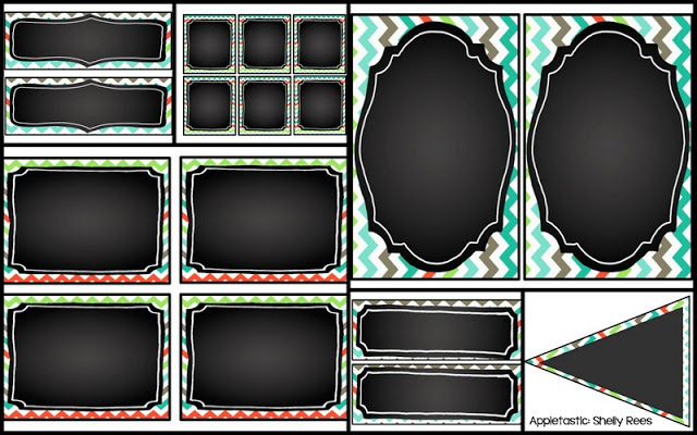 Chalkboard and Chevron Classroom Decor Themes