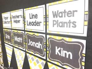 Gray and Yellow Classroom Theme Job Chart