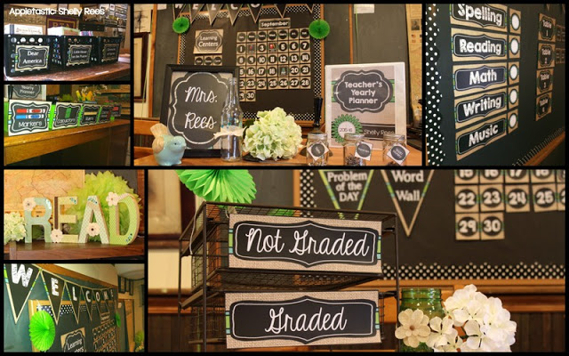 Chalkboard and Burlap Classroom Decorations