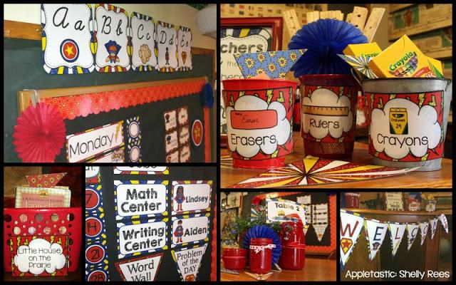 Superhero Classroom Decorations for a Superhero Themed Classroom