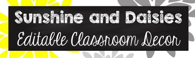 Classroom Decor Reveal #1: It's All Sunshine and Daisies!