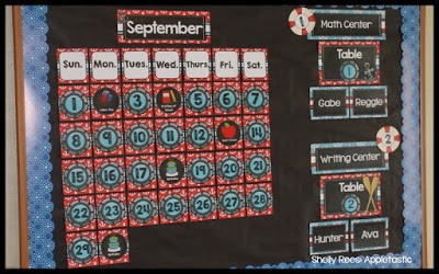 Nautical Classroom Theme Calendar and Editable Labels