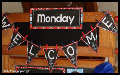 Nautical Classroom Theme Welcome Banner