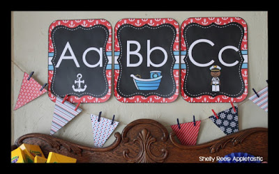 Nautical Classroom Theme Decor ABC Wall and Banners