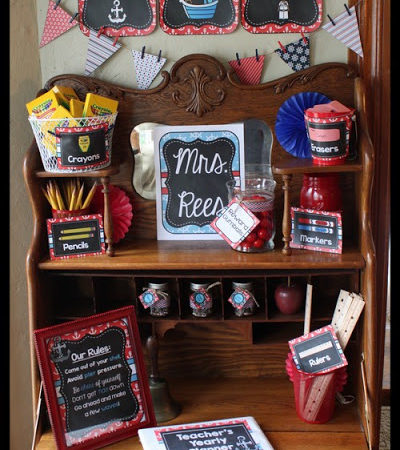 Nautical Classroom Decor Reveal and Giveaway – Ahoy, Matey!