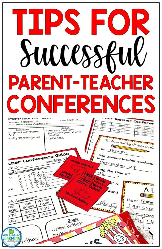 Tips for holding successful parent teacher conferences in your classroom.