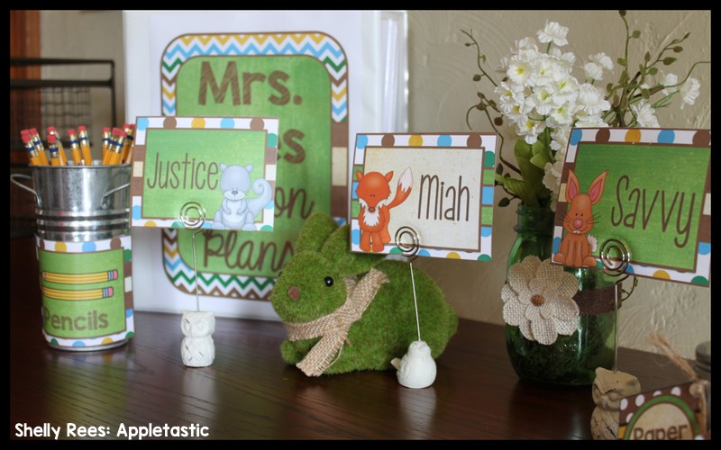 Woodland Classroom Decor ~ Woodland animals classroom decor reveal appletastic learning
