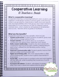This professional development webinar & materials will help you have a Cooperative Learning Classroom in no time! Build a Classroom Community today by using these strategies, tips, & structures. With purchase you get a 53 minute video, cooperative learning strategies guide & quick cards, numbered desk cards, cooperative group role posters & group role cards, and a PD certificate. Try it now with your Kindergarten, 1st, 2nd, 3rd, 4th, 5th, or 6th grade students! Junior High & High School too!!
