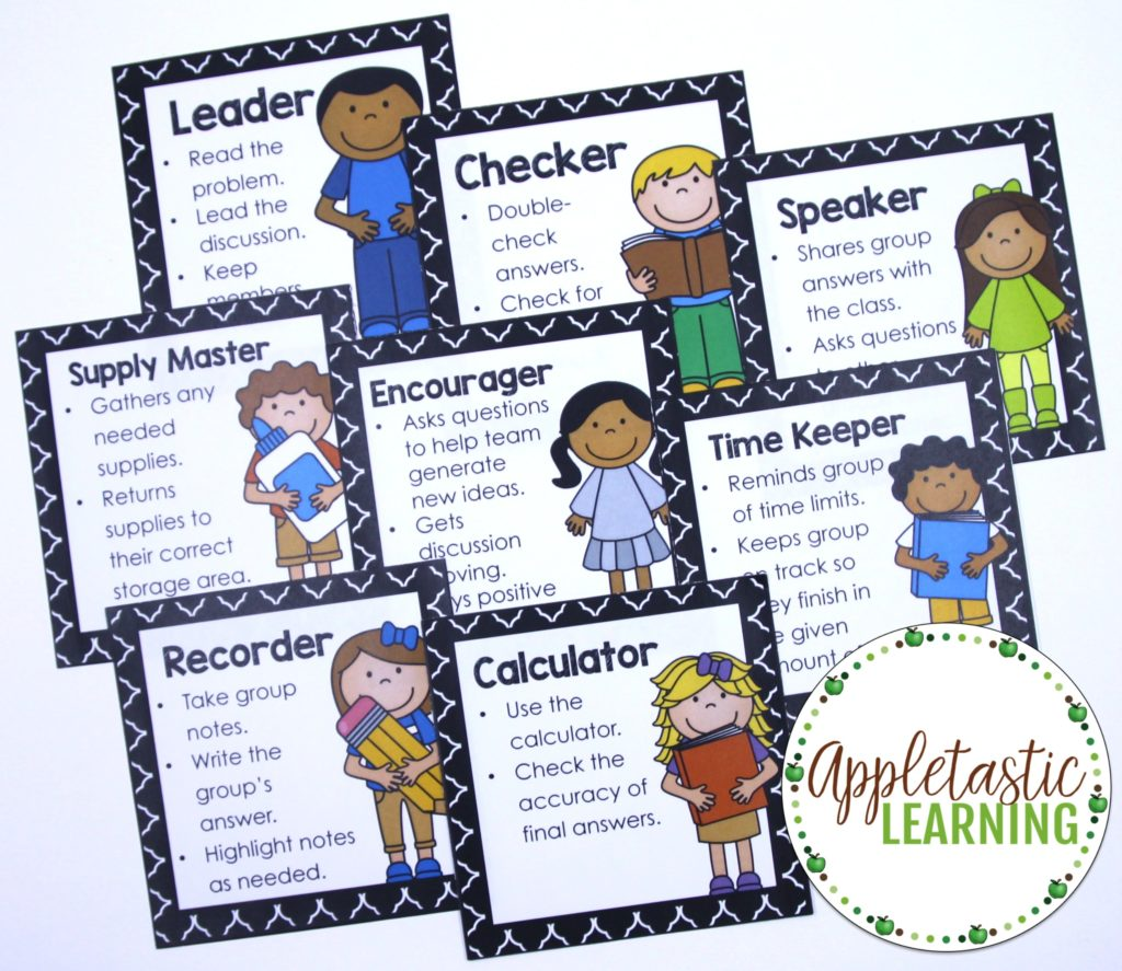 Cooperative Learning Role Cards