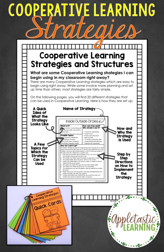Collaborative Strategies In The Classroom ~ Cooperative learning strategies appletastic