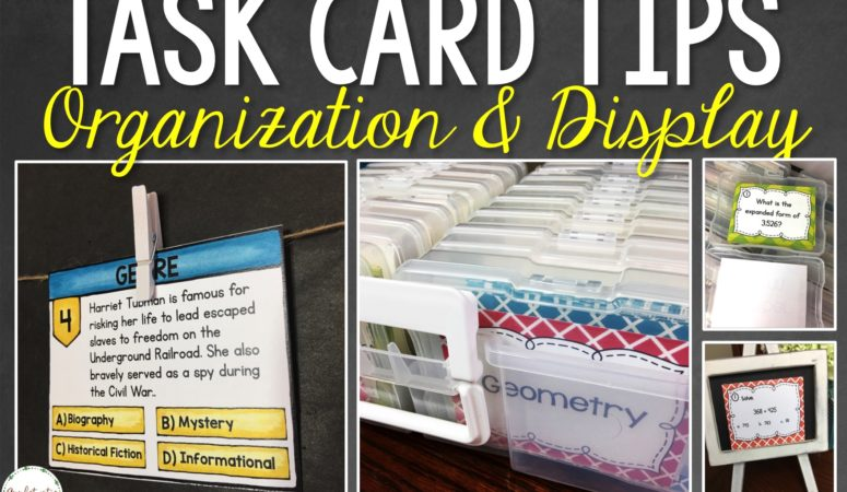 Task Card Organization Tips with Free Task Card Labels