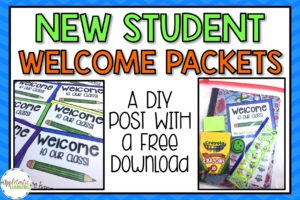 New Student Welcome Packets – DIY and a FREE Download