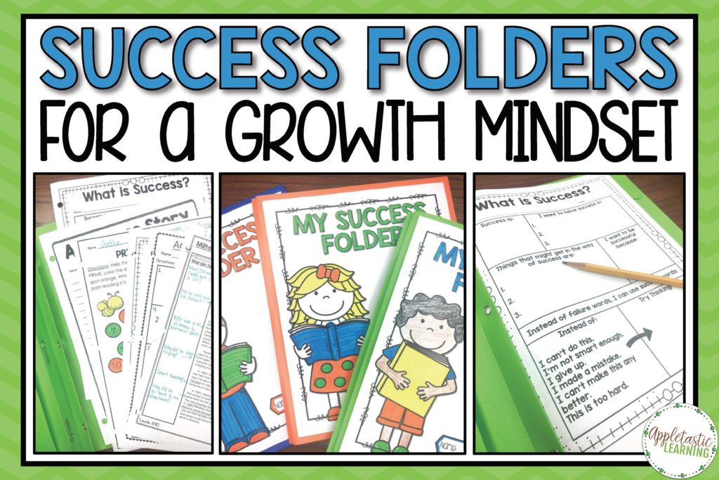 Success Folders for a Growth Mindset in action photos