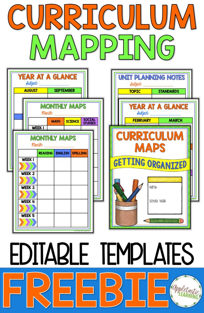 Curriculum mapping can make a teachers life much easier! Use the FREE editable template included at this blog post for your elementary, middle school, or high school lesson planning and tracking needs. Plus when you sign up for this freebie, you get access to other great freebies as well. Click through now to see how this lesson planner or pacing guide can help teachers be more organized and students gain better test scores and overall learning. {2nd, 3rd, 4th, 5th, 6th, 7th, 8th grade}