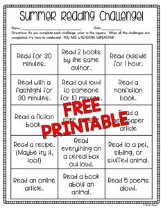 Click here to download your FREE Summer Reading Challenge Printable!