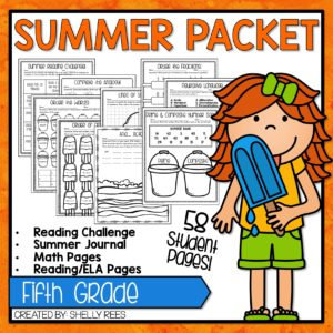 Click here to grab your fifth grade summer packet!
