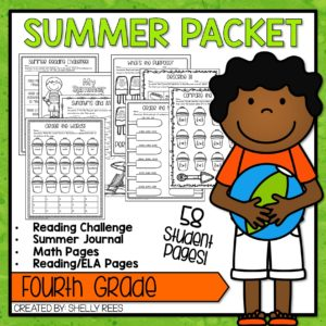 Click here to grab your fourth grade summer packet!