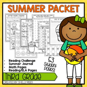Click here to grab your third grade summer packet!