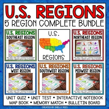 5 Regions of the United States Activities Bundle