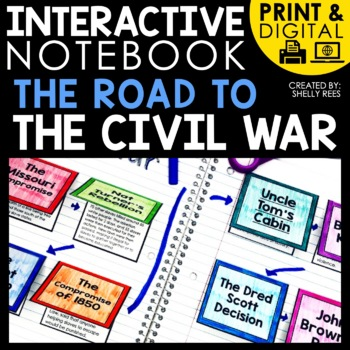 digital and printable interactive notebook for the Road to the Civil war
