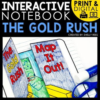 digital and printable interactive notebook for the California gold rush