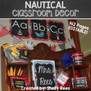 Nautical Classroom Decor Theme Kit