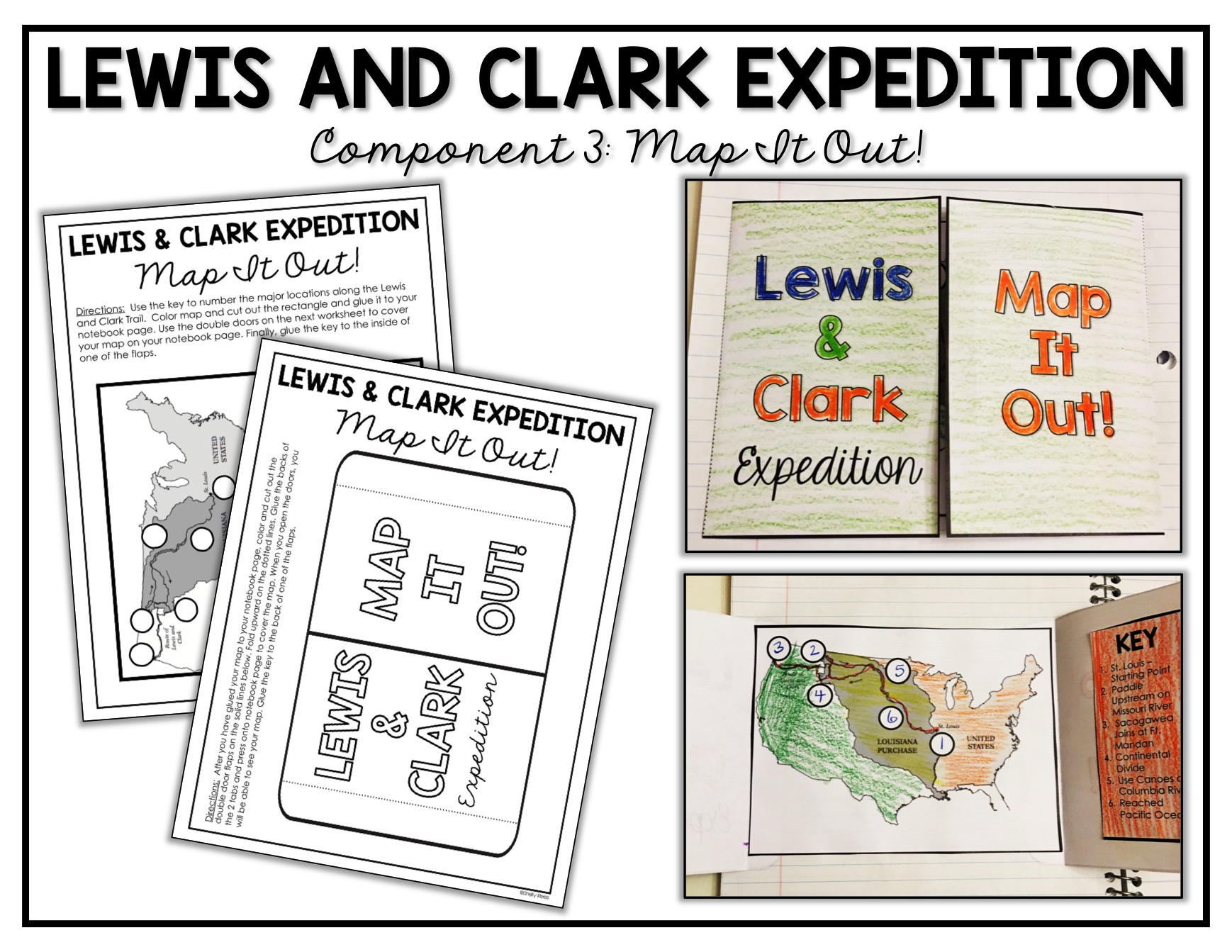 graphic relating to Lewis and Clark Printable Map named Lewis and Clark