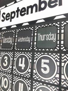 Chalkboard Classroom Calendar