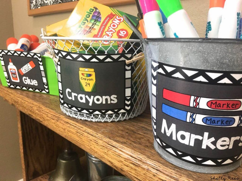 Classic Black and White with Chalkboard Classroom Theme Decorations