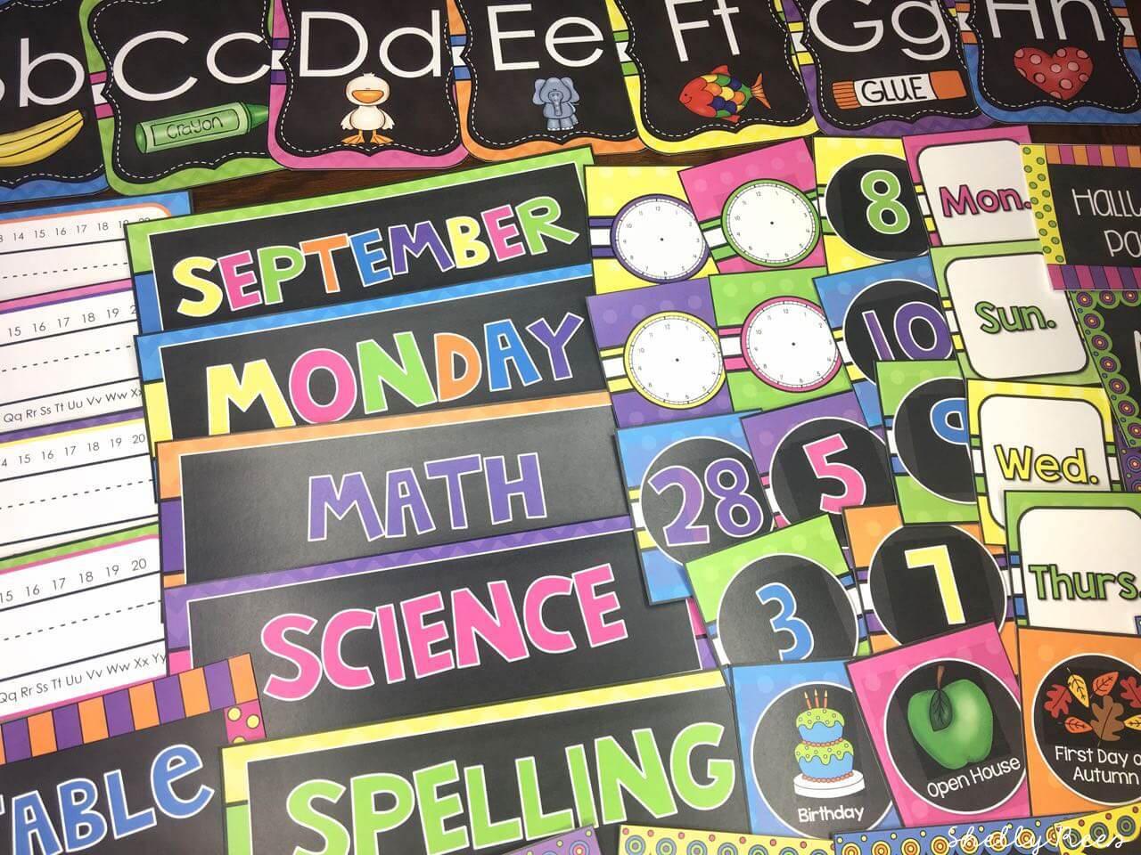 Chalkboard Brights Classroom Theme