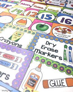 Bright Colors Classroom Decor Labels