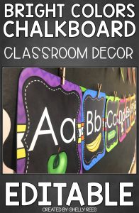 """images within """"Chalkboard Bright Classroom Decor - EDITABLE"""""""