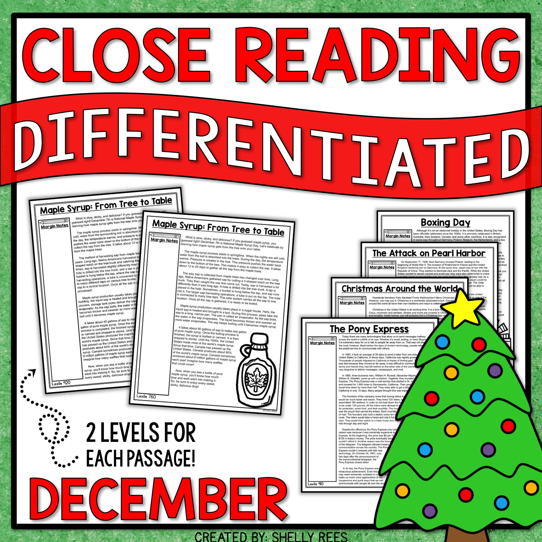 December Close Reading Passages