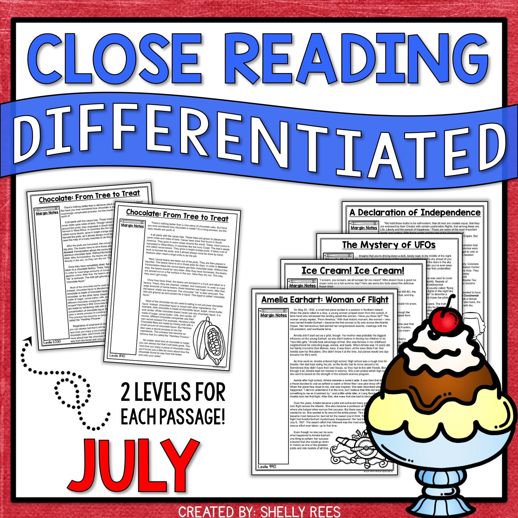 July Close Reading Passages