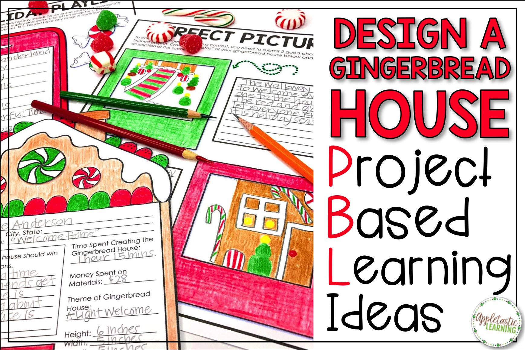 Christmas Writing Prompts.Christmas Writing Prompts With A Gingerbread Pbl Twist