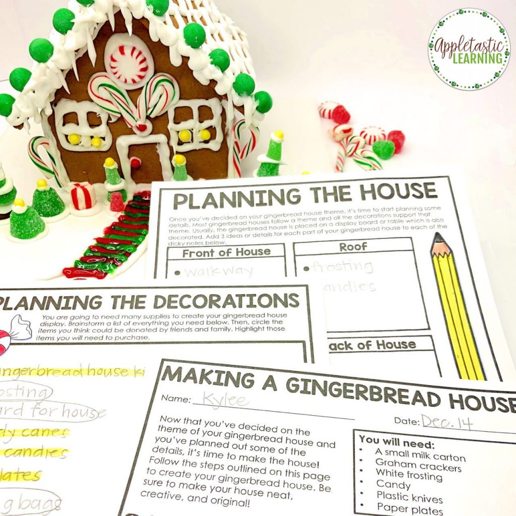 Design a Gingerbread House project based learning unit