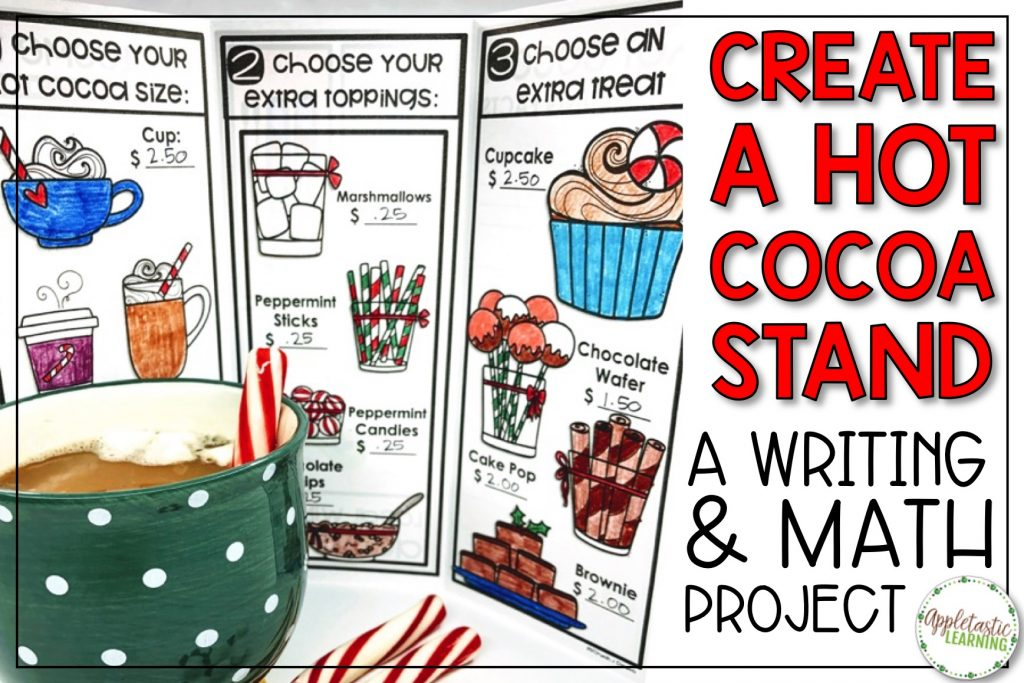 Winter Project-Based Learning for math and reading for 4th, 5th, and 6th grades has never been more fun and engaging! Use the Create a Hot Cocoa Stand PBL unit to make January math more creative. Teachers and students love this winter activities unit! #pbl #projectbasedlearning #5thgrade #4thgrade #wintermath