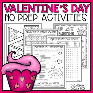 Valentine's Day activities for kids are fun with these 8 Valentine's Day activity ideas. Better than just worksheets, these activities for Valentine's Day Math and Writing include graphic organizers, writing prompts, printables, coloring pages, and math activities. Perfect for 3rd, 4th, 5th, and 6th grades! Free Valentine's Day printables included!