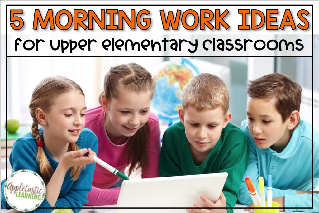 Get great morning work ideas for 3rd, 4th, 5th, and middle school grades. Make morning work routines meaningful and fun for upper elementary students with paperless morning work slides that are no prep. Try writing, math, and reading activities to increase learning with your morning work. Includes access to FREE morning work slides!