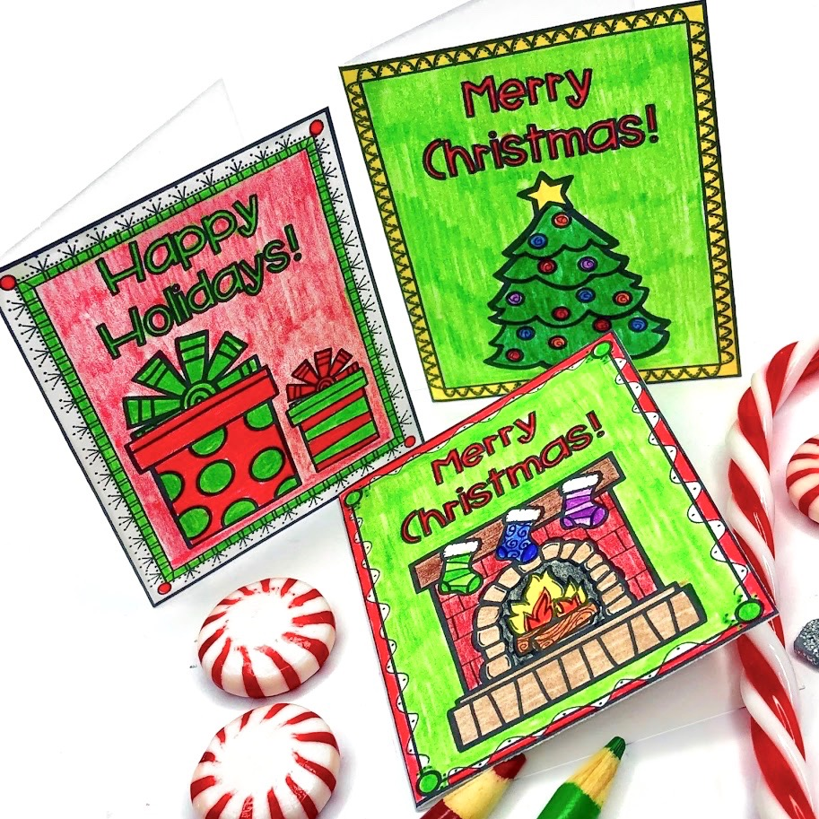 Christmas worksheet card templates