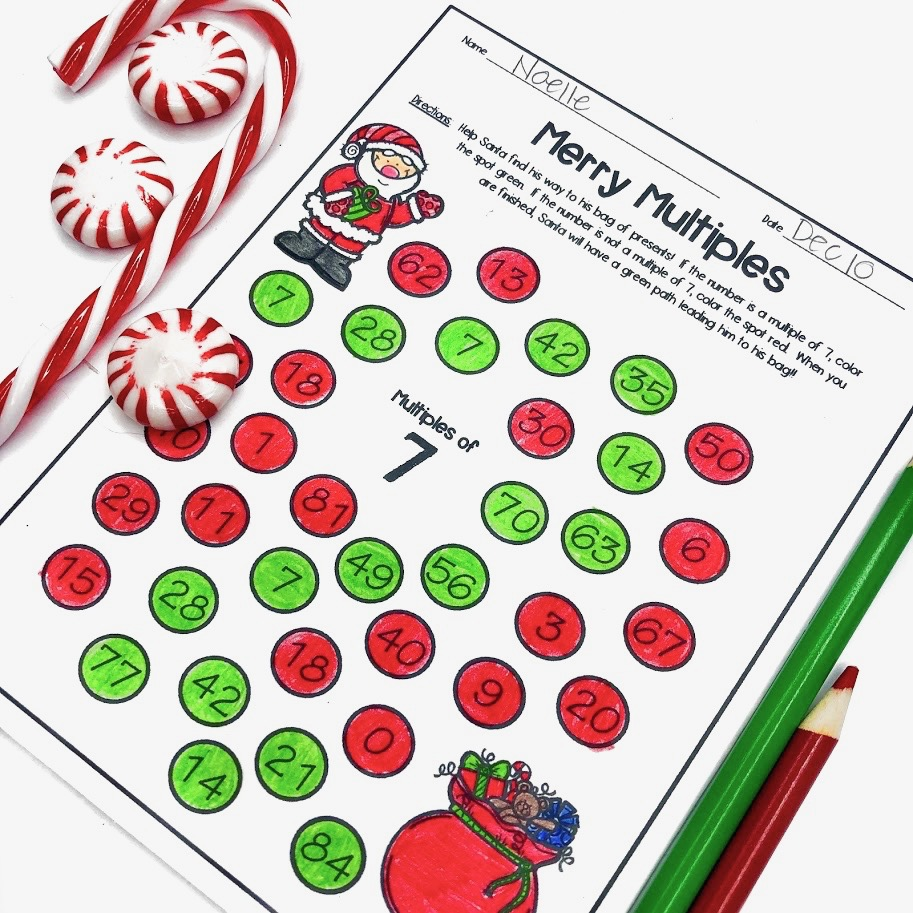 Merry Multiples Christmas Multiplication Practice