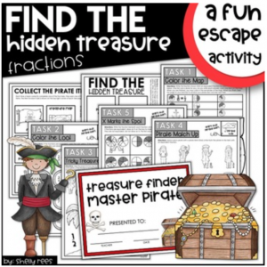 Pirate Themed Escape Room Activity for Fractions