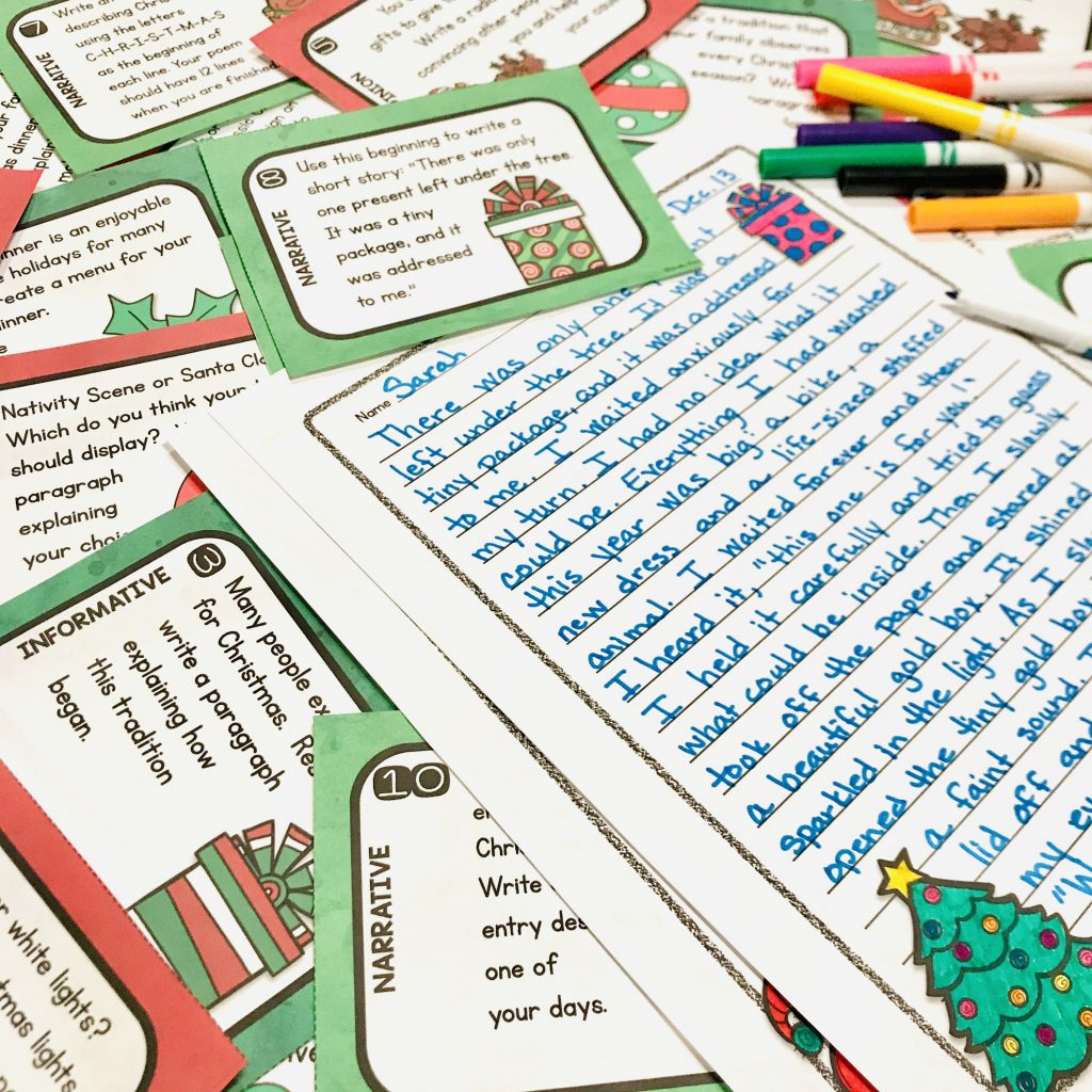 Christmas Writing Task Cards