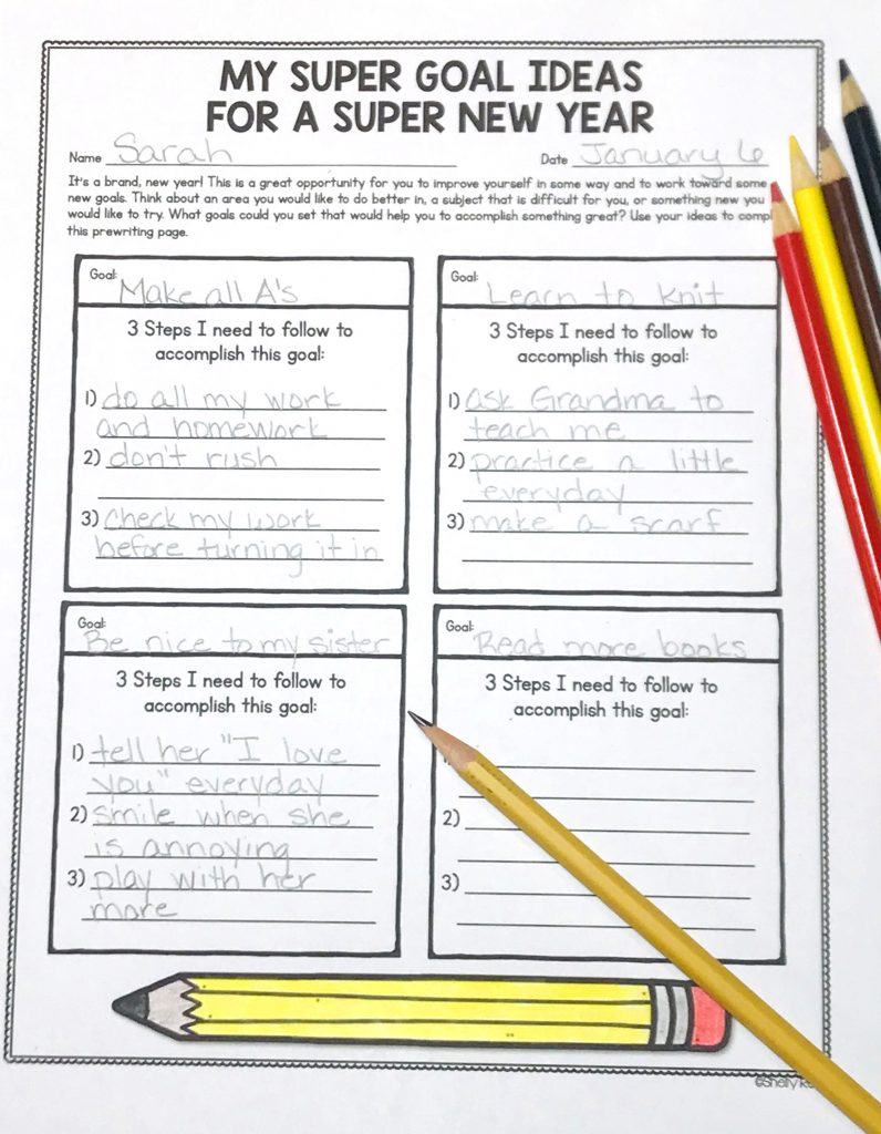 new year's resolution worksheets for goal setting
