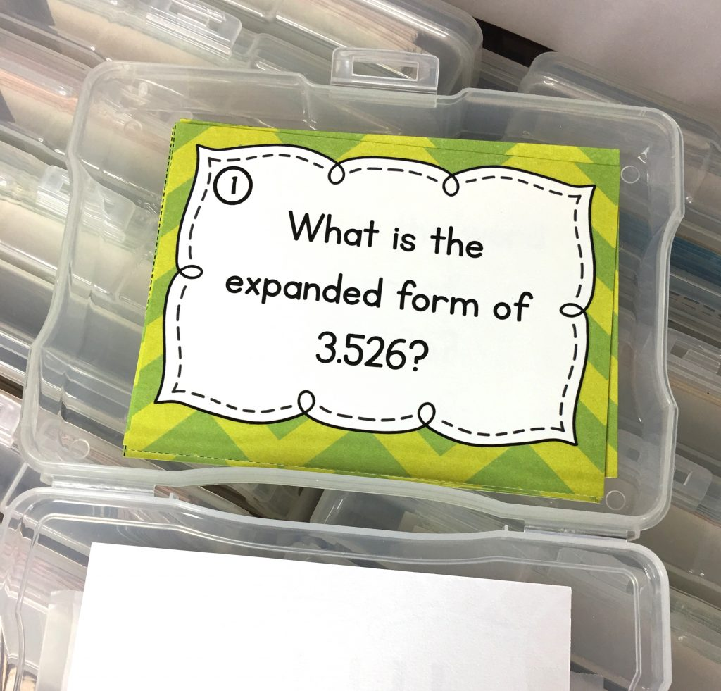 math task card for upper elementary